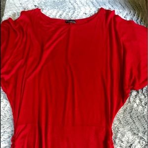 Red Body Central cut out shoulder top size Sm